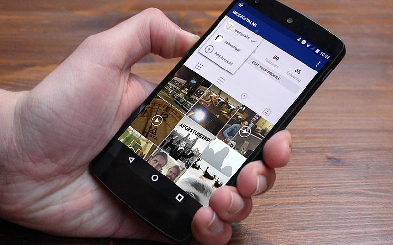 2 Instagram accounts tegelijk gebruiken?