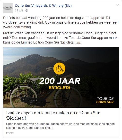 Cono Sur fiets 200 jaar