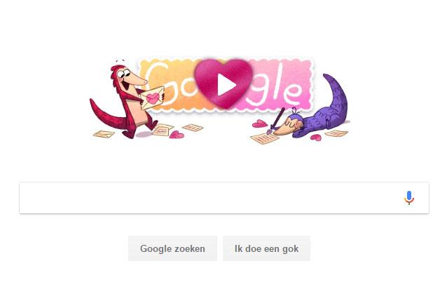 Google Doodle Valentijn 2017