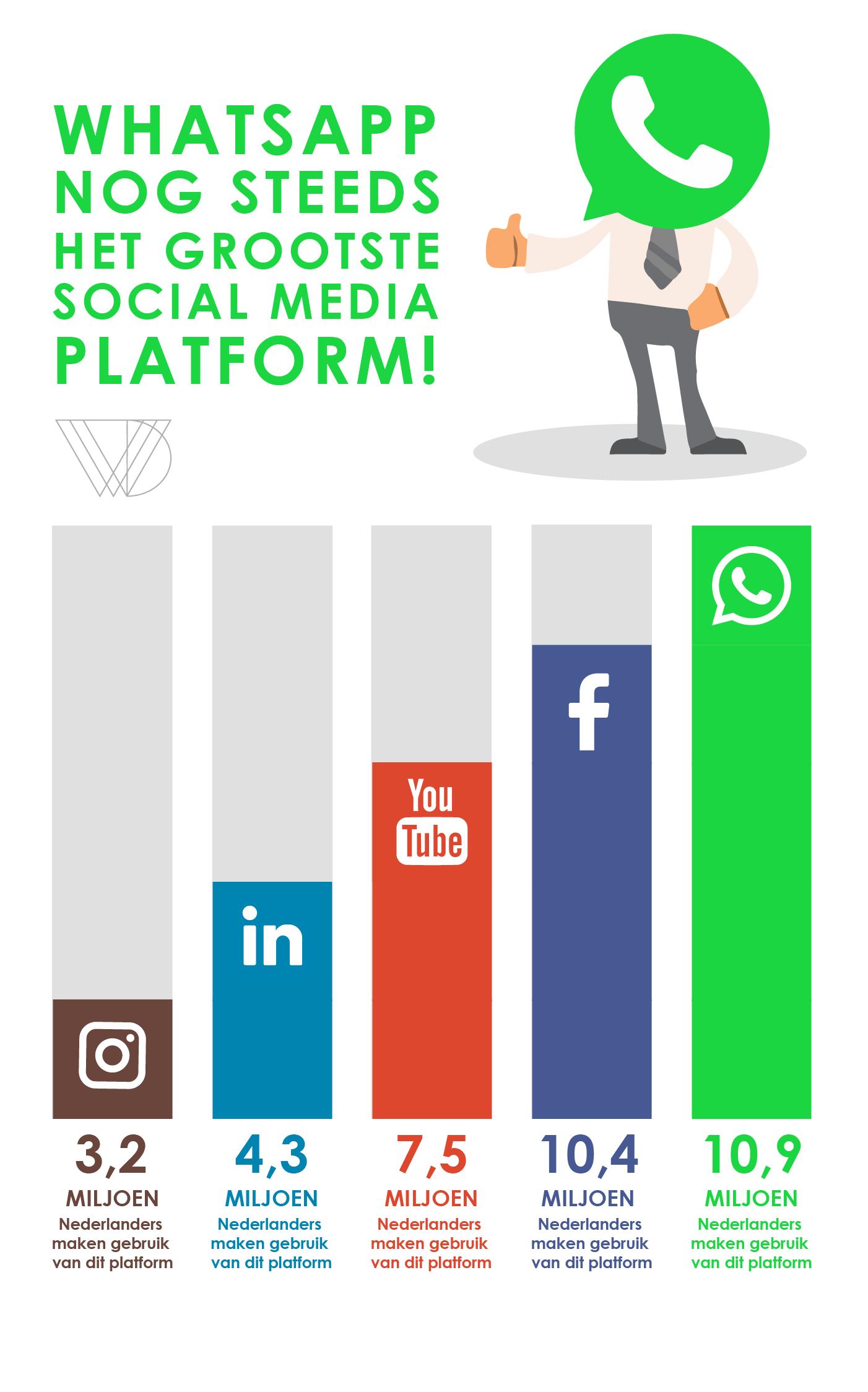 Populairste social media in 2017