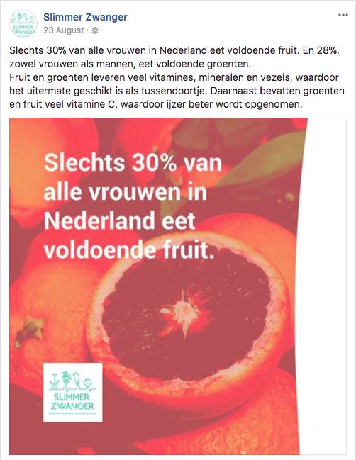 Slechts 30% van alle vrouwen in Nederland eet voldoende fruit